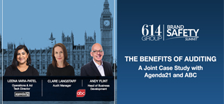 ABC joins agenda21 on stage at the 614 Group Brand Safety Summit